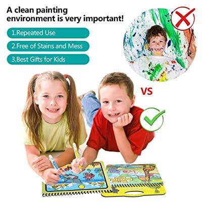 Carte reutilizabilă de colorat cu apă Doodle Water Book- animale marine [2]