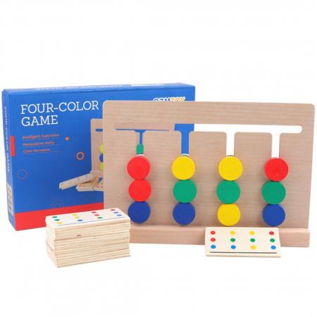 Joc Montessori de tip labirint de asociere și sortare culori - Four color game [1]