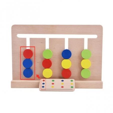 Joc Montessori de tip labirint de asociere și sortare culori - Four color game [3]