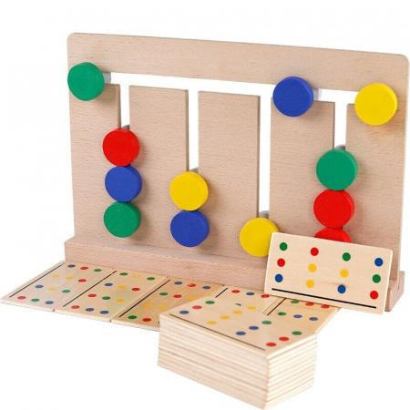 Joc Montessori de tip labirint de asociere și sortare culori - Four color game [0]