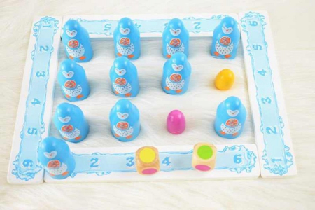 Joc de memorie din lemn PINGUINII - Penguin memory game [4]