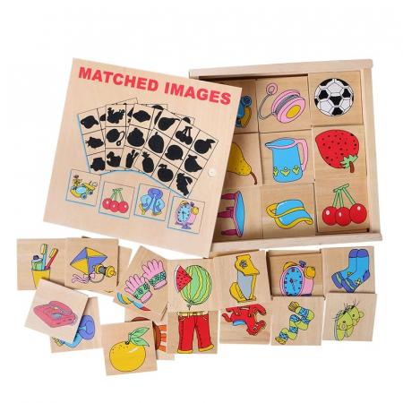 Jocul umbrelor - joc de asociere de tip Montessori din lemn- Obiecte [0]