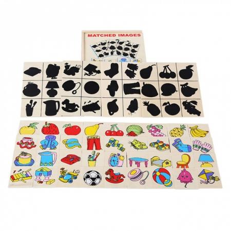Jocul umbrelor - joc de asociere de tip Montessori din lemn- Obiecte [1]
