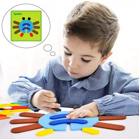 Puzzle Montessori distractiv de tip tangram ANIMALE - Montessori fun puzzle Animal [1]