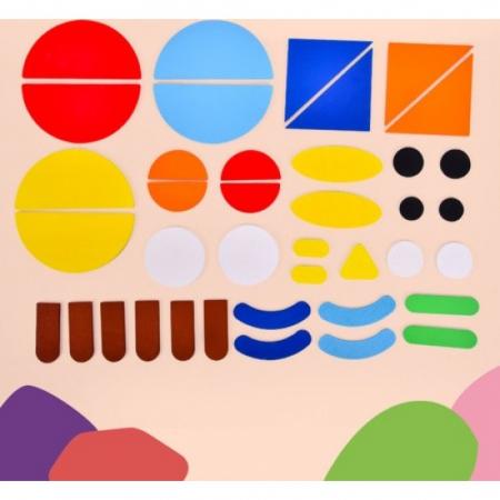 Puzzle Montessori distractiv de tip tangram ANIMALE - Montessori fun puzzle Animal [5]