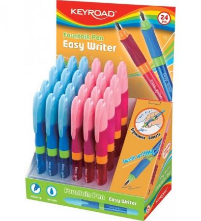 Stilou Easy Writer Fountain Pen Keyroad culoare roz+portocaliu [1]