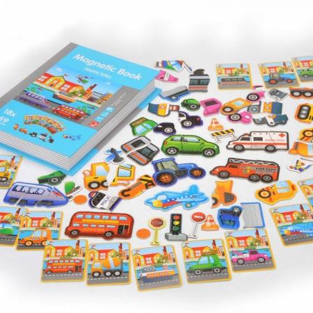 Carte magnetică puzzle MIJLOACE DE TRANSPORT - Magnetic Book traffic spell [2]