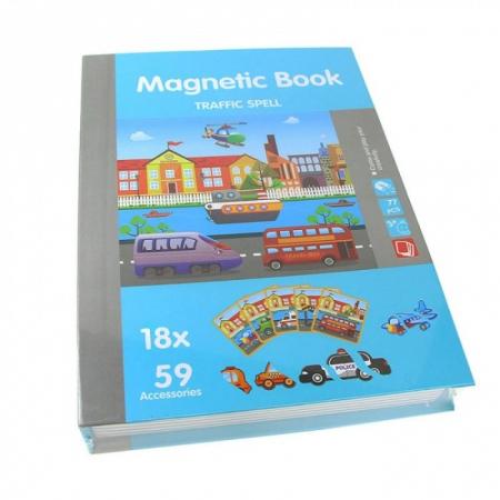 Carte magnetică puzzle MIJLOACE DE TRANSPORT - Magnetic Book traffic spell [1]