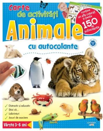 Animale. Carte de activități cu autocolante [0]