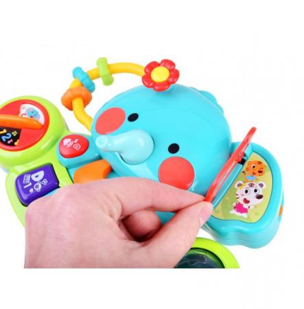 Jucărie interactivă cu sunete și lumini pian Elefant HOLA [10]