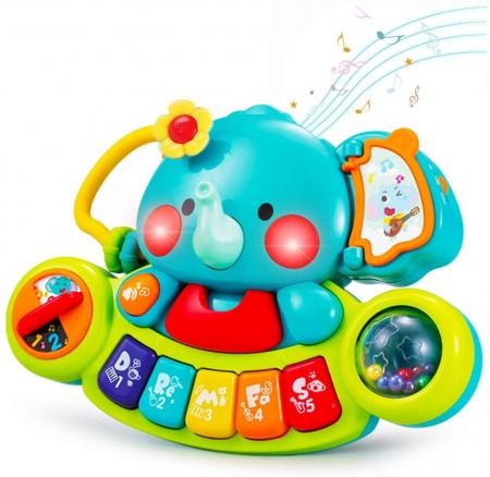 Jucărie interactivă cu sunete și lumini pian Elefant HOLA [12]