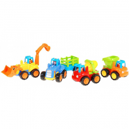 Set mașinuțe utilaje de construcții și munci agricole Hola [1]