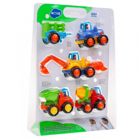Set mașinuțe utilaje de construcții și munci agricole Hola [2]