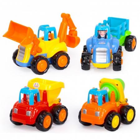 Set mașinuțe utilaje de construcții și munci agricole Hola [0]