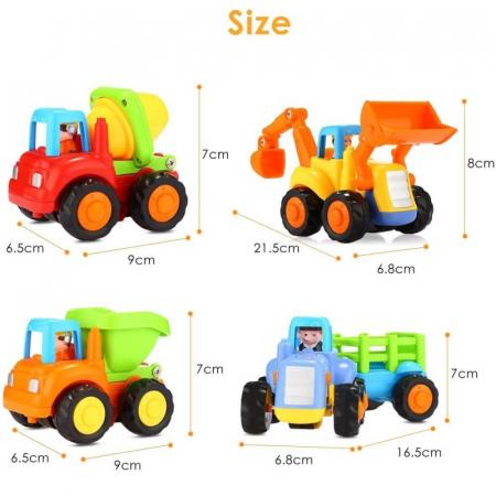 Set mașinuțe utilaje de construcții și munci agricole Hola [6]