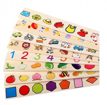 Joc Montessori de sortare și asociere imagini - Knowledge classification box [6]