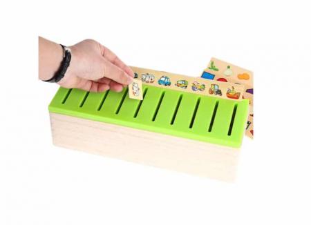 Joc Montessori de sortare și asociere imagini - Knowledge classification box [4]