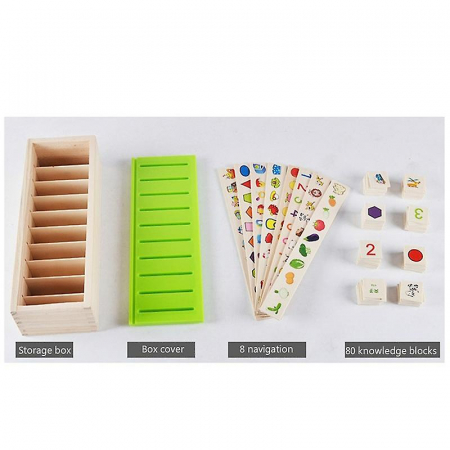 Joc Montessori de sortare și asociere imagini - Knowledge classification box [5]