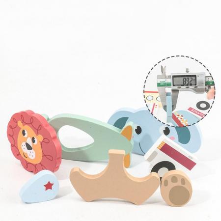 Set 4 puzzle din lemn în relief mijloace de transport  ANIMALE SĂLBATICE [3]