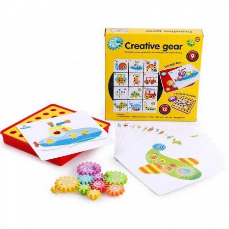 Joc creativ și de motricitate roți zimțate - Creative Gear [1]