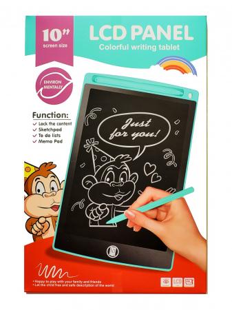 Tabletă LCD electronică 10 inch - Scrie și șterge- culoarea roz [0]