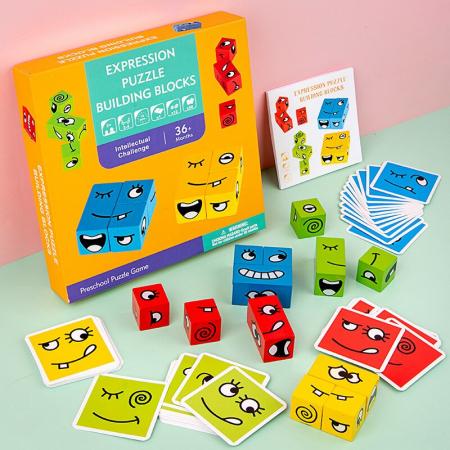 Joc de tip Puzzle Expresii faciale - Expression puzzle building blocks [2]