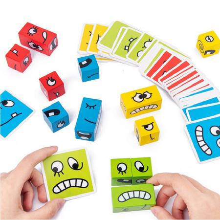 Joc de tip Puzzle Expresii faciale - Expression puzzle building blocks [3]