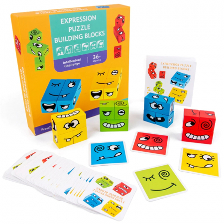 Joc de tip Puzzle Expresii faciale - Expression puzzle building blocks [1]
