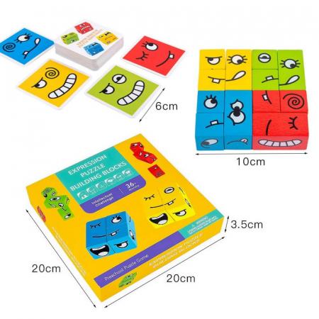 Joc de tip Puzzle Expresii faciale - Expression puzzle building blocks [4]