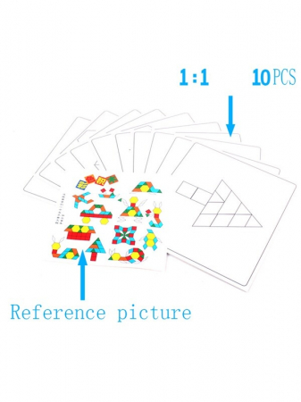Joc tangram din lemn 125 piese - Puzzle Blocks [4]