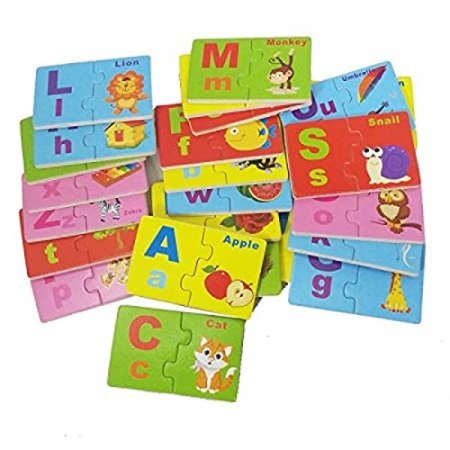 Joc de asociere din lemn tip puzzle alfabetul în limba engleză LETTER ENGLISH MATCH [1]