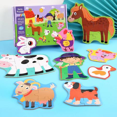 Puzzle animale de la fermă 44 piese - Farm Puzzle [0]