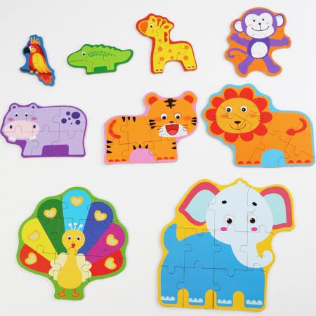 Puzzle animale sălbatice 44 piese - Animal Puzzle [1]