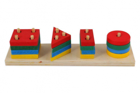 Joc de tip Montessori - Sortator cu 4 forme geometrice - Geometric Sorter [0]