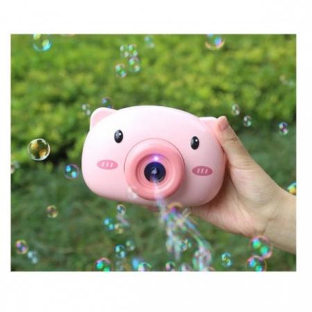 Aparat foto de jucărie de făcut baloane de săpun -design purceluș roz [2]