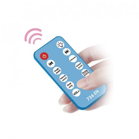 CARUSEL PĂTUŢ cu telecomandă şi proiecţii, culoare albastru [5]
