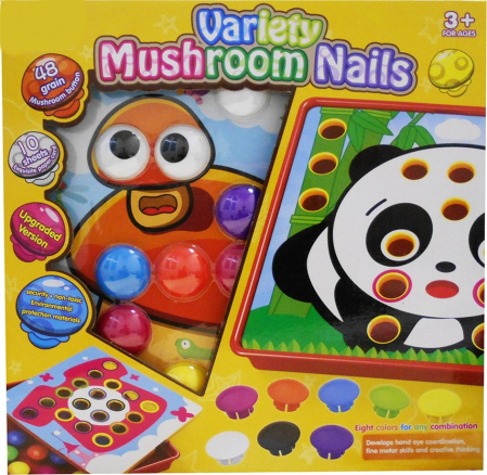 Joc creativ mozaic cu butoni Variety Mushroom Nails [2]