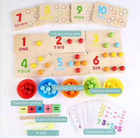 Joc de tip Montessori de matematică și exersarea motricității - Digital Cognitive Pinch game [5]