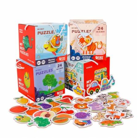 Set 24 puzzle din 2 bucăţi- ANIMALE MARINE-MY BEST PUZZLES 24 IN A BOX MARINE ANIMAL [1]