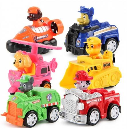 Set 6 maşinuţe cu fricţiune cu personajele PATRULA CĂŢELUŞILOR [0]