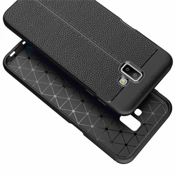 Husa Samsung Galaxy J6 Plus 2018 Silicon TPU Colorat Negru-Autofocus Black