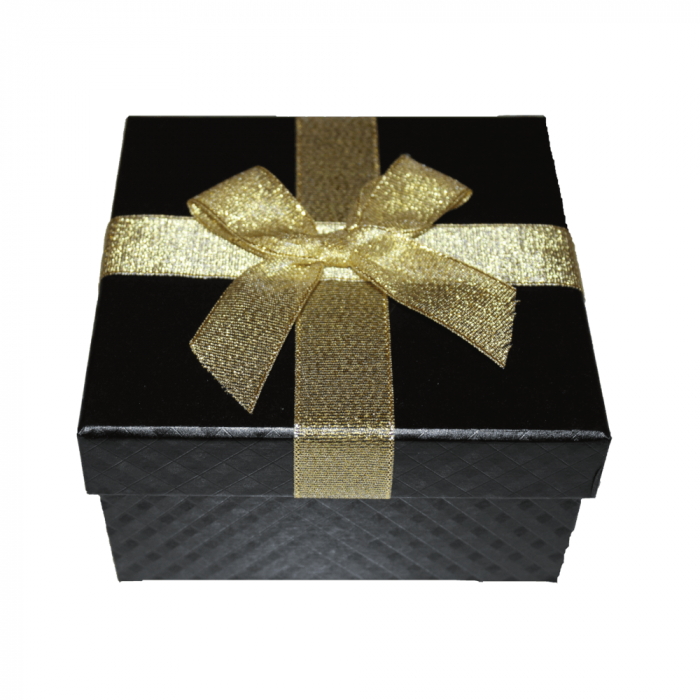 Aranjament trandafiri de sapun ivoire in cutie patrata neagra [2]