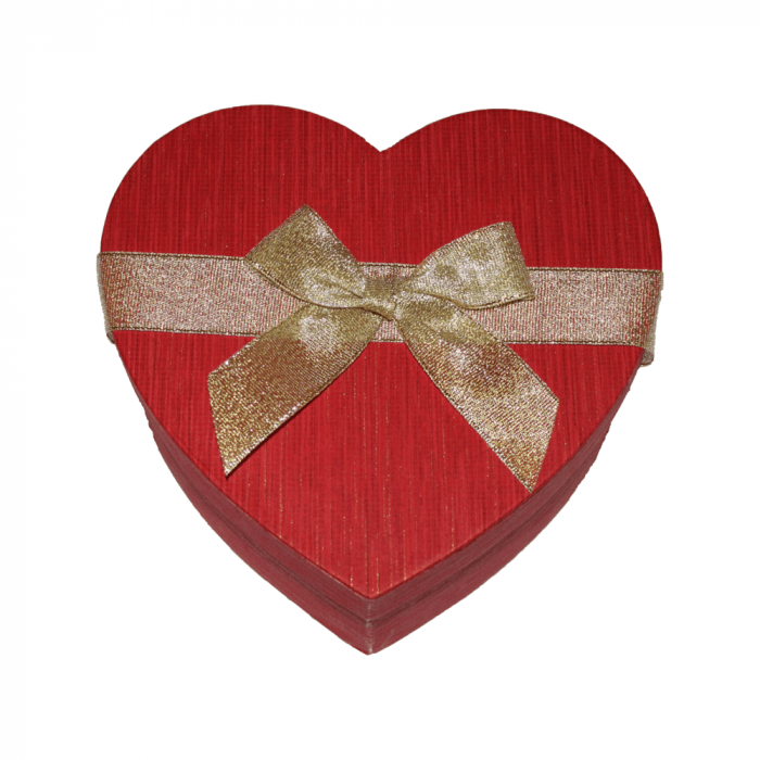 Aranjament trandafiri de sapun mov si albastri in cutie inima rosie 2