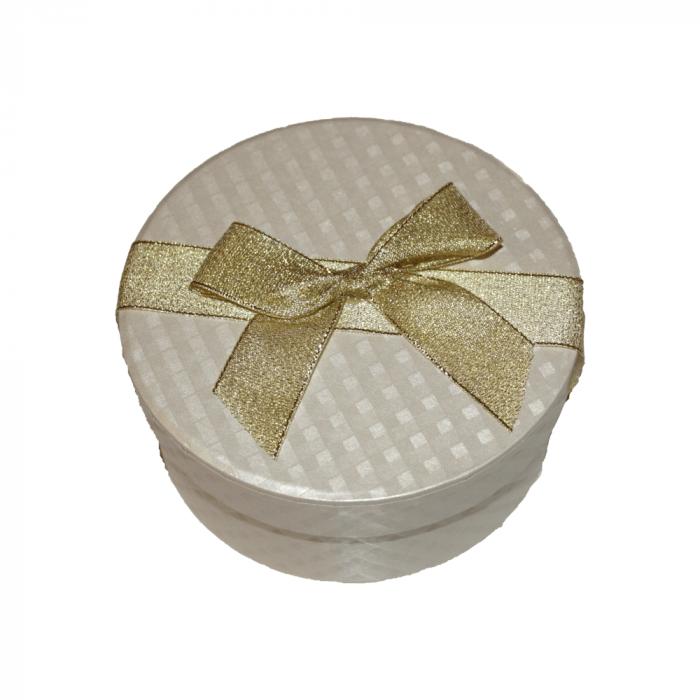 Aranjament trandafiri de sapun mov si albastri in cutie rotunda gold [2]