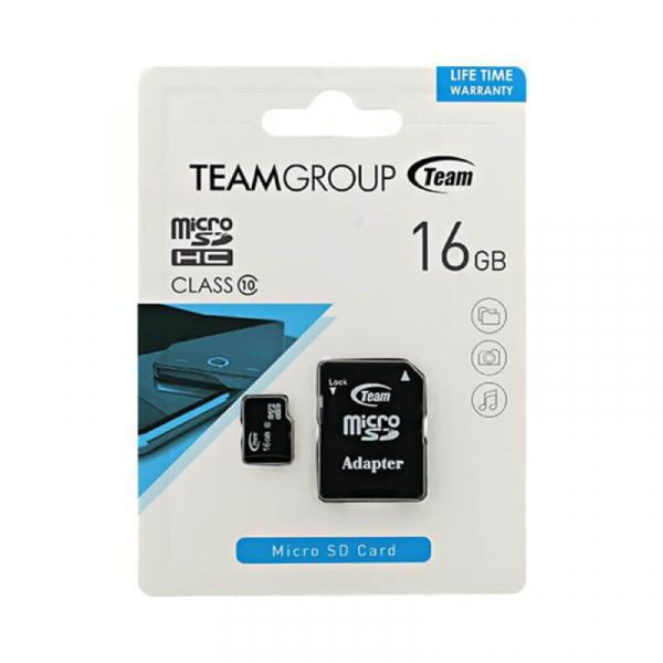 Card Memorie 16 GB Micro SDHC+Adaptor SD Team 0