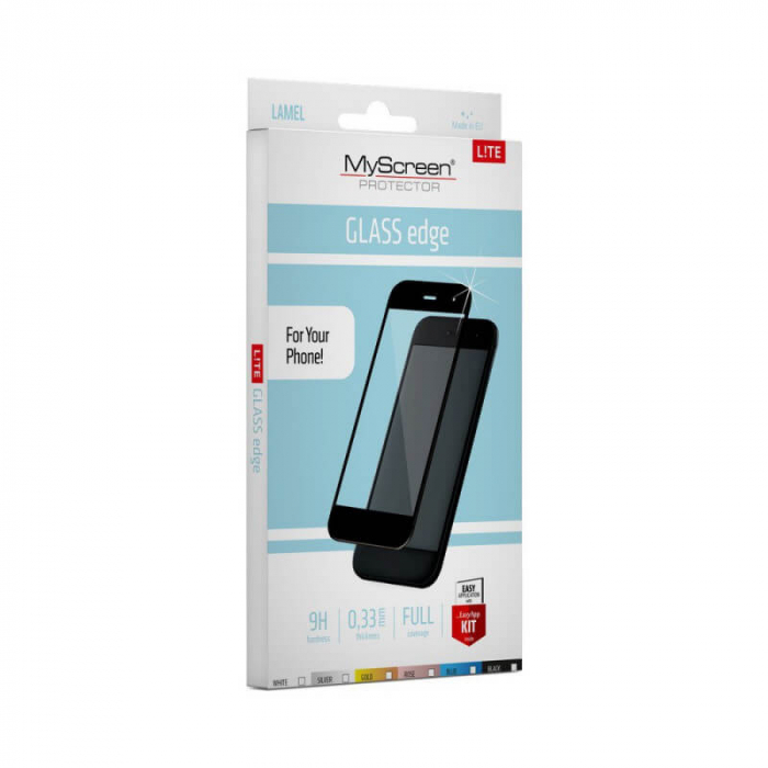 Folie Huawei Mate 20 Lite Full Glue Negru MyScreen [0]