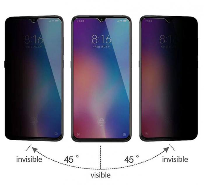 Folie iPhone 6/6S Anti Spy Profesionala Neagra 1