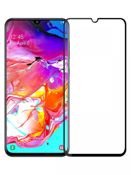Folie Samsung Galaxy A70 2019 9H Full Glue 3D Neagra 2