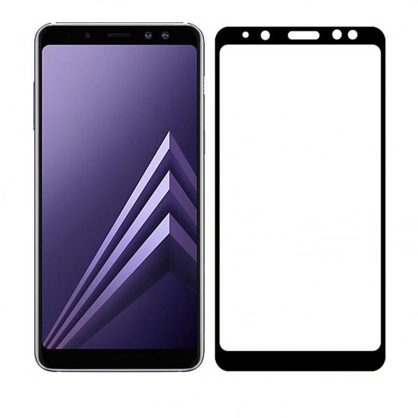Folie Sticla Full Cover 3d Glass pentru Samsung Galaxy J4+ Plus 2018 / J4 Prime Black Neagra 1