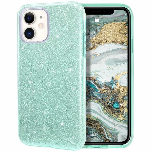 "Husa Apple iPhone 11 6.1"" Color Silicon TPU Carcasa Sclipici Verde 0"